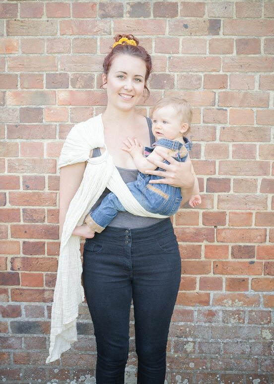 Using a ring sling: where to adjust and how to tighten. (6/6)